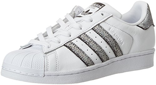 adidas Damen Superstar Gymnastikschuhe, Elfenbein (Ftwr White/Supplier Colour/Core Black), 37 1/3 EU