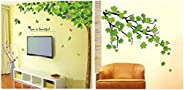 Decals Design 'Bestselling Leaves Tree' Wall Sticker (PVC Vinyl, 90 cm x 60 cm, Multicolour) &