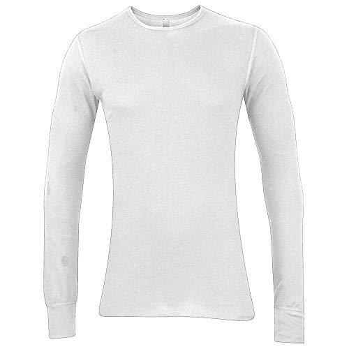 Authentische American Apparel (American Apparel AA032 Thermo-T-Shirt für Babys, langärmelig, unifarben Gr. Large, weiß)
