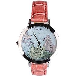 Student women's fashion watches leather strap quartz watch