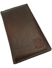 Funda rígida para hombre auténtica calidad Real con una chaqueta de cuero tipo libro de juego de tarjetas altas perchero de pared de compartimentos para tarjetas de crédito