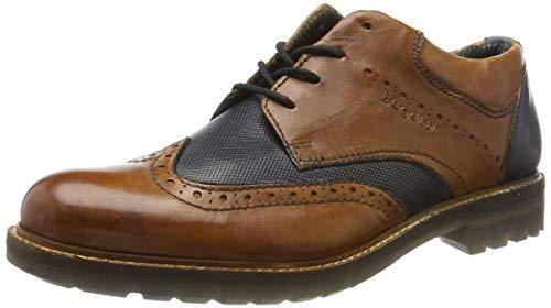 Bugatti 311815014141, Zapatos de Cordones Derby para Hombre, marrón, 43 EU