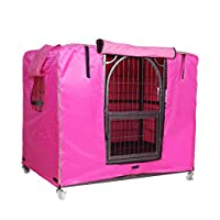 XCO XiaoXIAO Dust Cover - Pet Cage Cover Dog Cage Protection Cover Wind And Rain Shade Oxford Winter Warm Outdoor Pet Supplies (4 Colors, 3 Sizes) dust cover (Color : C, Size : 99 x 66 x 78cm)