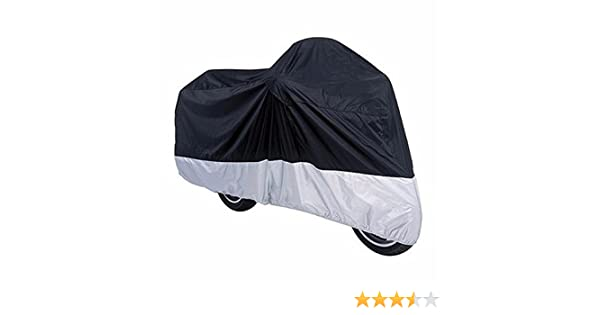 Moped Cover Outdoor Bike Cover Motorcycle Cover,Diligencer 190T Waterproof UV Protective Cover With Stainless Steel Lock-holes Outdoor With Storage (Silver)