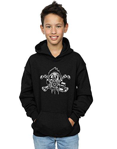 Drewbacca Jungen Gas Mask Crossbones Kapuzenpullover Schwarz 5-6 Years