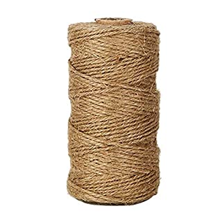 ZARRS Twine Rope,100 Meters Long Natural Jute Rope 2 Ply 1.5mm Hemp Ropes String Ball for Floristry,Wedding Card DIY Craft Home Packing Garden Applications