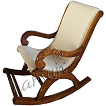 Aarsun Wooden Rocking Chair   Easy Chair   Relaxing Chair   Wood Chair in Teak Wood