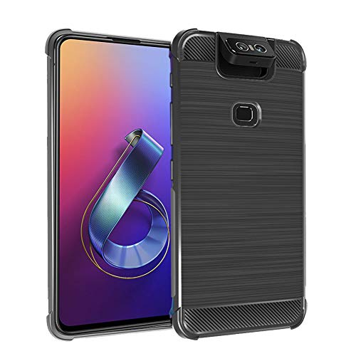 NUPO ZenFone 6 ZS630KL Cover, Protective Hard Back Case [Shockproof, Absorption-Shock] Cover, with drawability Durable and Easy Design for ZenFone 6 ZS630KL - Matte Black