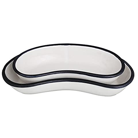 EK DO DHAI Kidney Bean Platter Set Of 2 serving tray serving bowls
