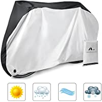 Aival Bike Cover, Bicycle Cover, Bike Rain Cover 190T Nylon Waterproof Anti Dust Rain UV Protection Heavy Duty Dust Cover for Mountain Bike, Road Bike with with Lock-holes Storage Bag