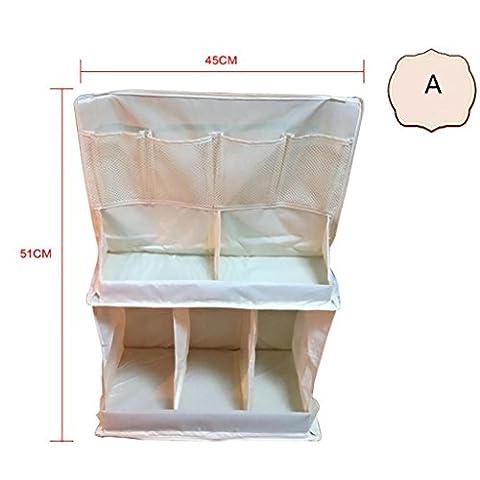 HTTMYY Baby Lits Sac De Rangement Diaper Poches Multilayer Multifonction Durable LéGer A 51X45cm B 63x48cm , a