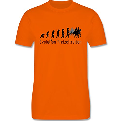 Evolution - Freizeitreiten Ausreiten Reiten Evolution - Herren Premium T-Shirt Orange