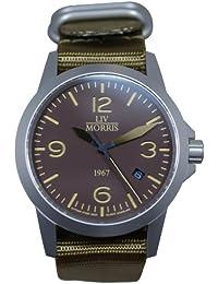 LIV MORRIS LIV MORRIS 1967 VALBERT No. 3 0732066353751 - Reloj para hombres, correa de nailon color azul marino