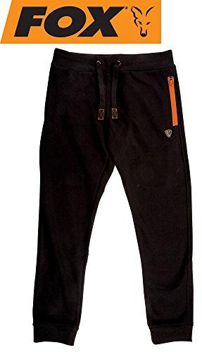 Fox Black/Orange Joggers Angelhose, Anglerhose, Hose für Angler, Angelhosen, Anglerhosen, Jogginghose, Größe:XL