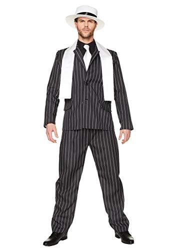 Gangster Boss Mens Fancy Dress 20s Mafia Pinstripe Anzug Erwachsene 1920er Jahre - Großbritannien Fancy Dress Kostüm