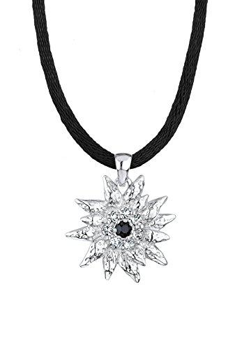 edelweiss anhaenger Elli Damen Halskette mit Anhänger Edelweiß 925 Sterling Silber Swarovski Kristallen weiß 45 cm 0109630913_45