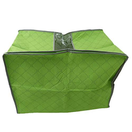 Sperrins Quilt Kissen Kleidung Vlies Bambuskohle Lagerung Kleidung Tasche Space Bags Tasche Moving Packing wasserdicht feuchtigkeitsbeständig Staubbeutel, grün (Tasche Quilt)