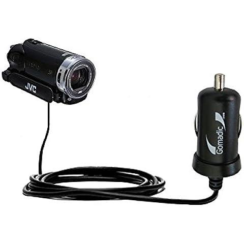 Caricabatterie DC Mini compatibile con Auto Avanzato JVC Everio GZ-EX215 / GZ-EX250BUS 2 Amp (10W) Realizzato con la Tecnologia TipExchange