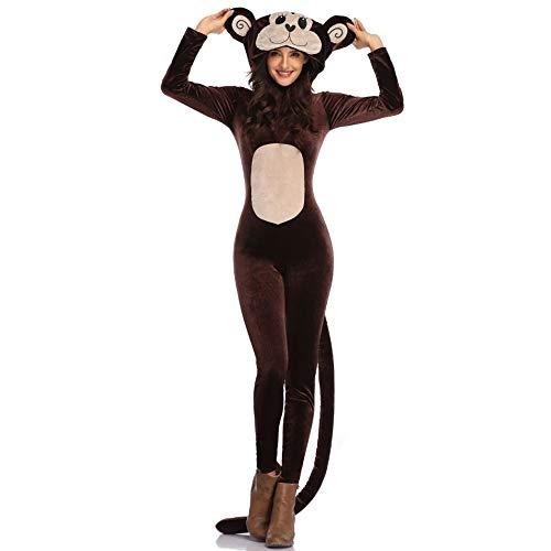 Halloween Niedliche Weibliche Kostüm - ZSTY Cosplay, Halloween, Erwachsene Person, Niedlicher AFFE, Tier, Einteilige Aufführung, Kleid, Aufführung, Unisex,M