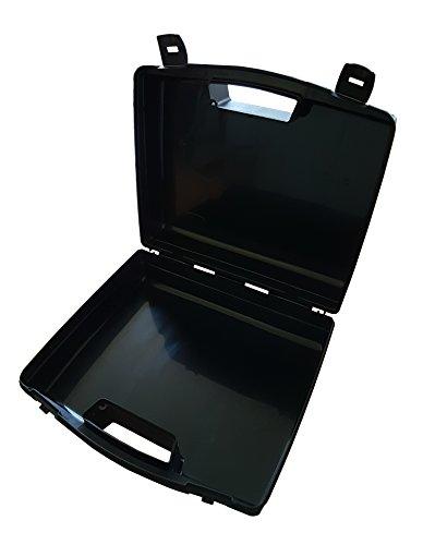 Kunststoffkoffer leer in schwarz, Außenmaß: 320x280x119 mm - 5