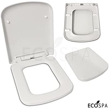 black square toilet seat. Luxury Square Design Toilet Seat  Soft Close One Button Release Top Fixing Hinges