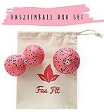 Faszienball Duo Set: Einzel- und Duoball + Gratis Baumwolltasche + Gratis Übungsheft und eBook für Faszien-Training/Selbst-Massage/Trigger-Punkt-Behandlung