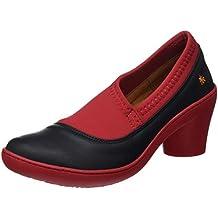 ART 1446 Grass Black-Grosella/Alfama, Zapatos de tacón con Punta Cerrada para