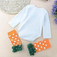 FORH 3PCS Halloween Baby Brief Print Strampler Overall + Leggings + Stirnbänder Set Outfit Schlafanzug Baumwolle Overalls Festliche Kleidung