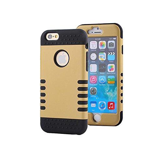 iPhone 6Cas, iPhone 6(11,9cm) résistant aux rayures chocs absorbant cas doré