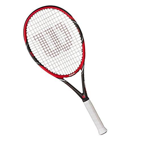 Wilson Federer Pro 105 Tennisschläger, Red/Grey, 2 (Tennisschläger Wilson)
