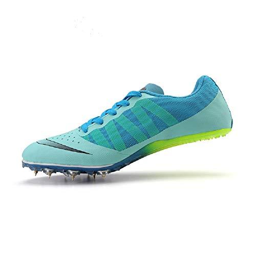 DDSHYNH Coppie Scarpe da Atletica Leggera, Spikes Scarpe da Atletica Donna Primavera Estate Leggero Uomo in Esecuzione Sneakers da Unghie,Blue,EUR38
