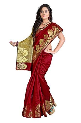 E-Vastram Silk Cotton Saree(NDSM_Maroon)