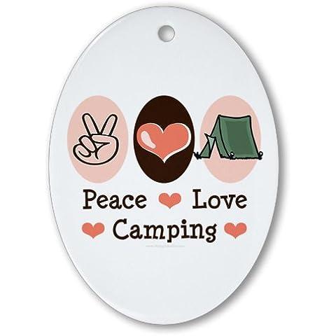 Peace Love campeggio ovale Ornament - Hanging Vestiti Del Bambino