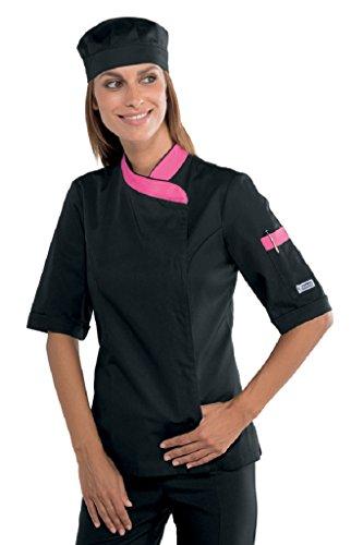 Isacco Lady Snaps Jacket Isacco Nero+Fuxia Nero+Fuxia XL 65% Polyester 35% Baumwolle Xl Workwear-snap