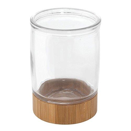 Adler Zahnbürste (InterDesign 85111EU Kane Glasbecher, durchsichtig / natur)