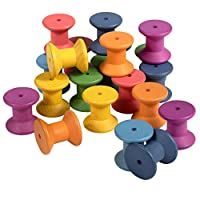 TickiT 73975 Rainbow Wooden Spools - Pack of 21