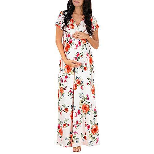 Robemon Damen Elegant Spitze Umstandskleid Mutter Riemchen Minikleid Umstandsmode Partykleider Schwangerschaftskleid Damen Mutterschaft Kleid Schwangere Elegante Fotografie Krankenpflege