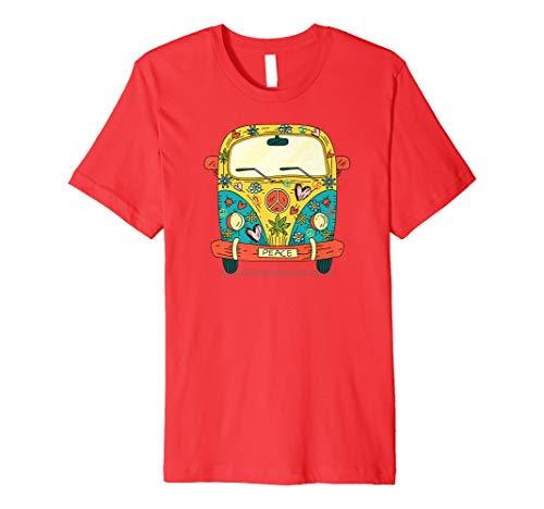Hippie Bus & Bulli T-Shirt - Peace & Love -