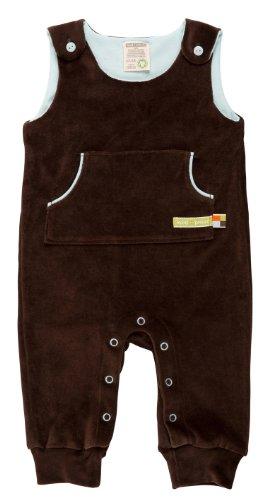 Loud + Proud Unisex - Baby Strampler Nicki, Einfarbig, Gr. 56 (Herstellergröße: 50/56), Braun (Chocolate)