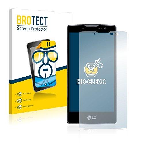 2X BROTECT HD Clear Bildschirmschutz Schutzfolie für LG Spirit Y70 (kristallklar, extrem Kratzfest, schmutzabweisend)