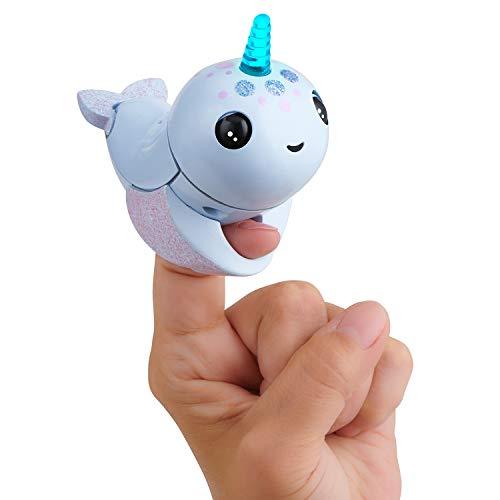 Wow Wee Light Up Narwhal-Nori (Blue) Mascota Interactiva, Color Azul (3698)