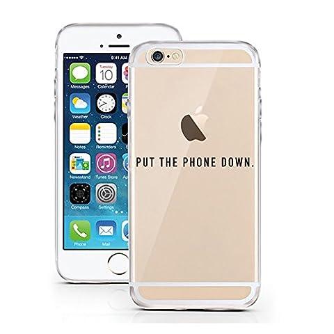 iPhone 5 5S SE cas par licaso® pour le modèle Put the Phone down Commander Merde TPU 5 Apple iPhone 5S silicone ultra-mince Protégez votre iPhone SE est élégant et couverture voiture cadeau