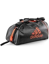 55e9f4a648 Adidas ADIACC051-2 Training Borsa da sport 2 in 1, Nero/Arancione,