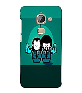 PrintVisa Cute Cartoon Gangster Couple 3D Hard Polycarbonate Designer Back Case Cover for LeEco 2S