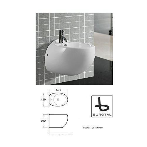Burgtal 17714 Design Keramik Hänge Wand Bidet Kreta BB-06