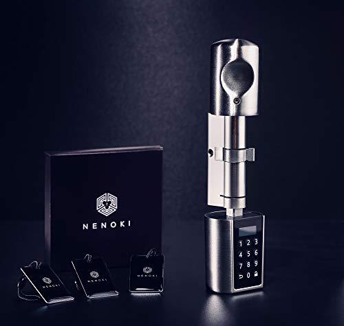 NENOKI Smartlock - elektronischer Schließzylinder mit PIN-Code, RFID- & APP-Steuerung (elektronisches Türschloss), 40/30mm (aussen/innen)