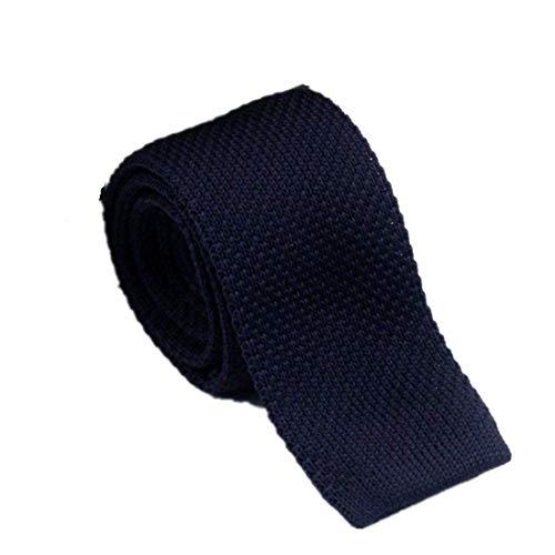 Jeerui Strickkrawatte Handmade Fashion Krawatte Knit Strickkrawatte Slim Skinny Woven Klassische Plain Gestrickte Skinny Tie Krawatte (4 Farben) -