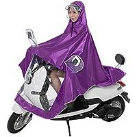 Sroomcla Poncho de Bicicleta Poncho de Lluvia Premium Impermeable Doble Senderismo Impermeable Transpirable con Capucha Ajustable Impermeable y Impermeable Chaqueta para Lluvia Hombre Delightful