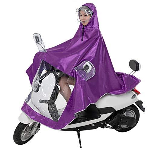 Rubyu Fahrrad Poncho Premium Regenponcho Doppel Regencape Wandern Atmungsaktiv Regenmantel mit Verstellbarer Kapuze Reißfestes und Wasserdichtes Regenjacke Regenschutz Damen Herren