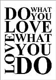 Forex-Platte 30 x 40 cm: Do what you love von Zeit-Raum-Kunstdrucke